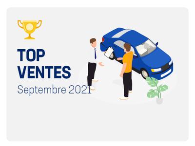 Top ventes automobile Septembre 2021