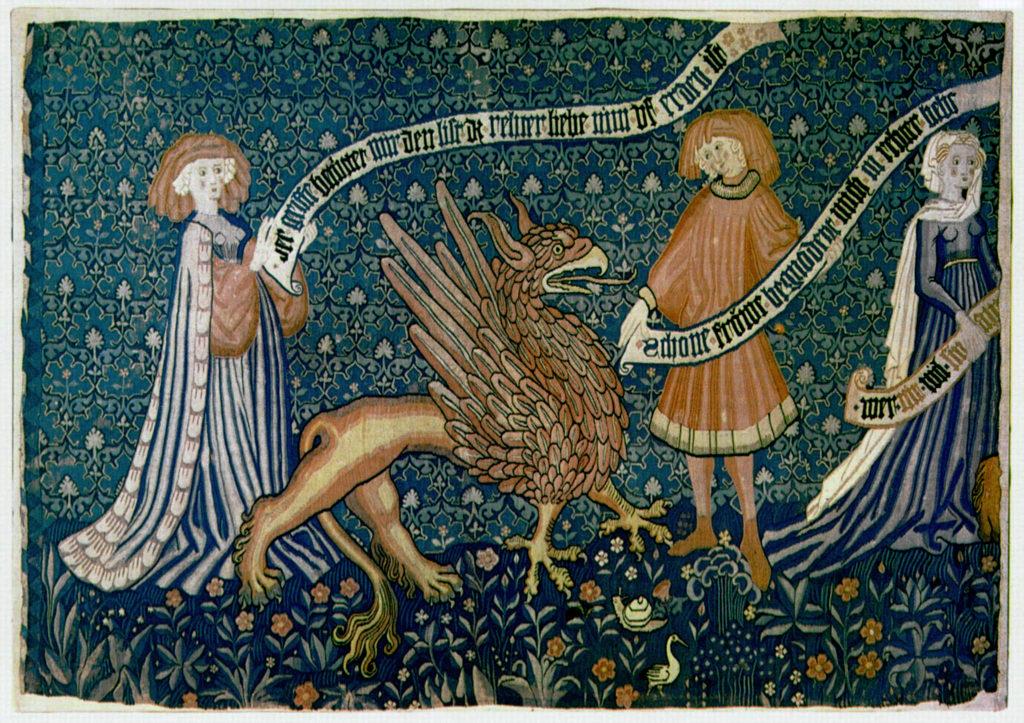 Tapisserie avec un griffon de 1450