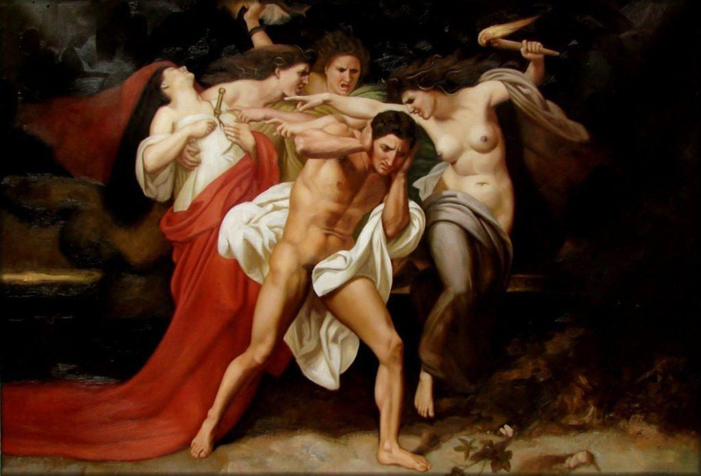 Oreste poursuivi par les Furies par William-Adolphe Bouguereau (1862