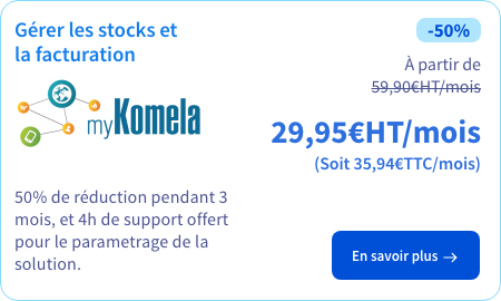 Solution de gestion de la facturation et de la logistique de livraison myKomela