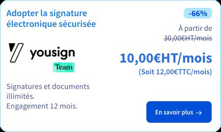 Signature électronique Yousign