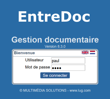 EntreDoc-GED-Connexion