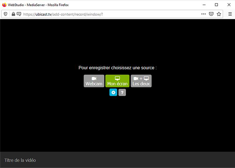 Webstudio - enregistrer son écran