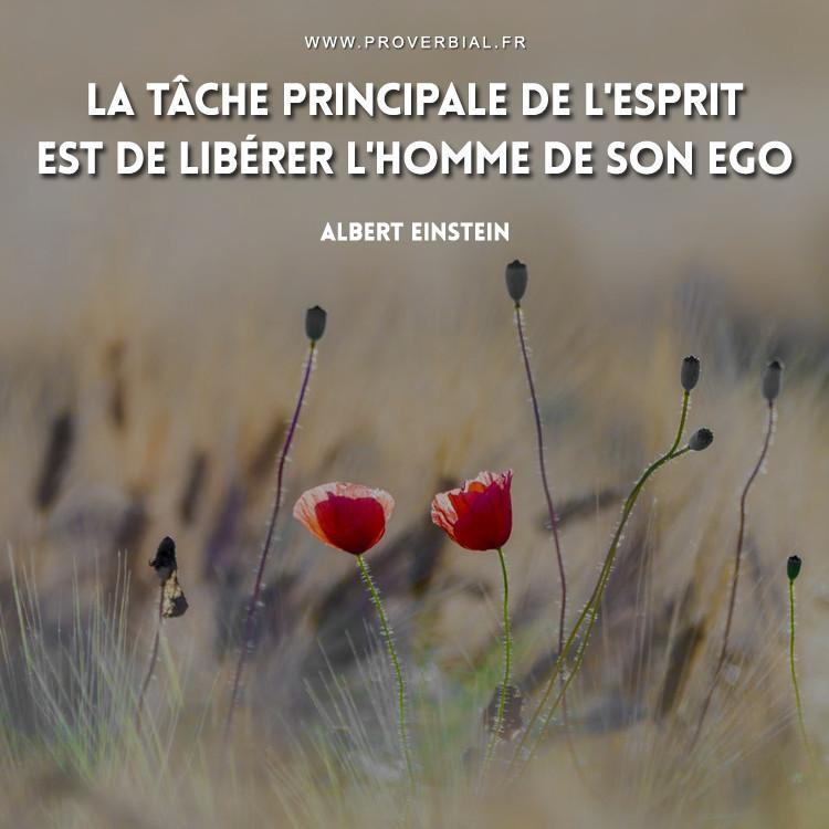 La tâche principale de l'esprit est de libérer l'homme de son ego.