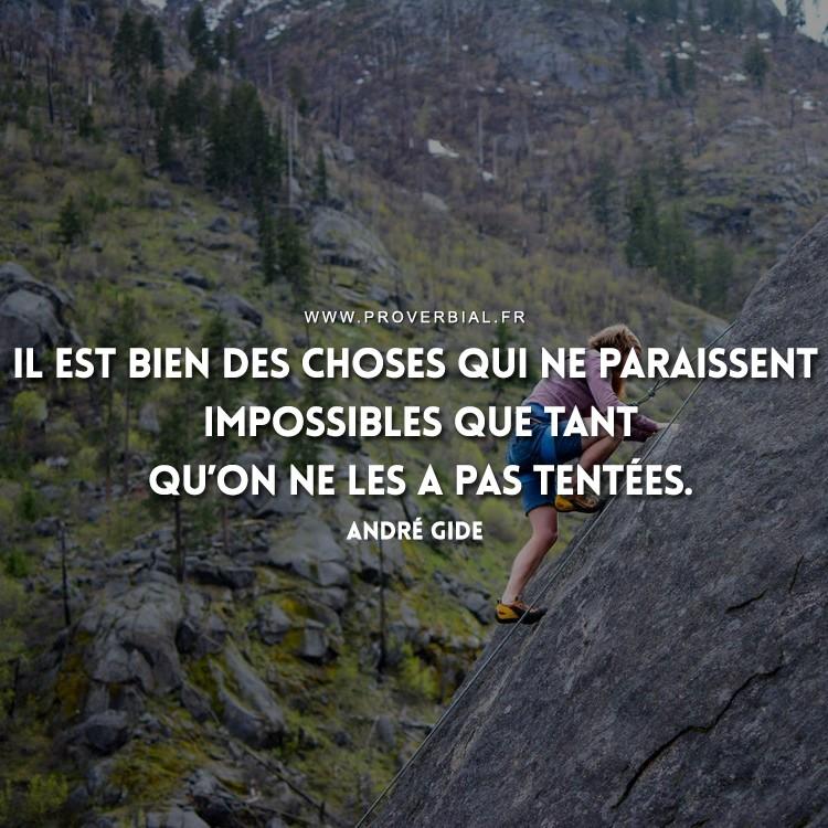 Il est bien des choses qui ne paraissent impossibles que tant qu'on ne les a pas tentées.