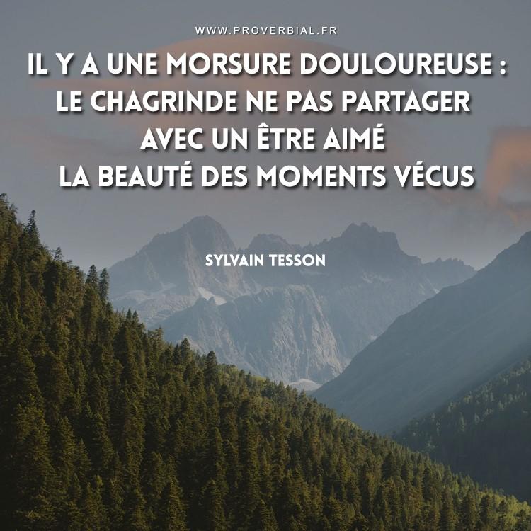 Il y a une morsure douloureuse : le chagrin de ne pas partager avec un être aimé la beauté des moments vécus.