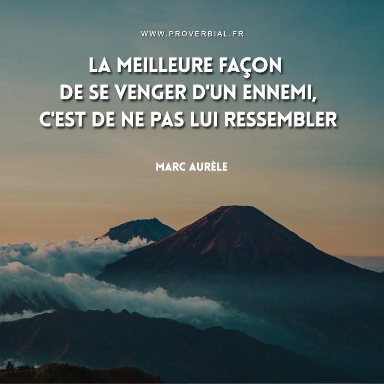 Citation de Marc Aurèle sur la vengeance