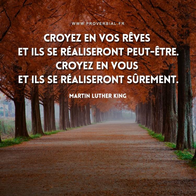 Citation de Martin Luther King sur les rêves et la confiance en soit