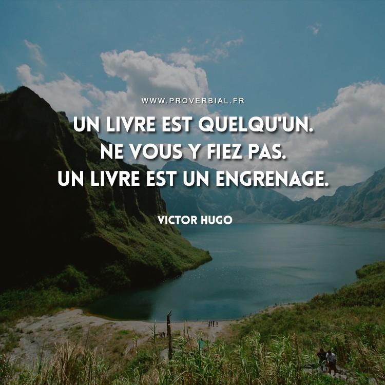 Citation de Victor Hugo sur les livres