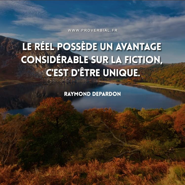 Citation de Raymond Depardon sur le réel et la fiction