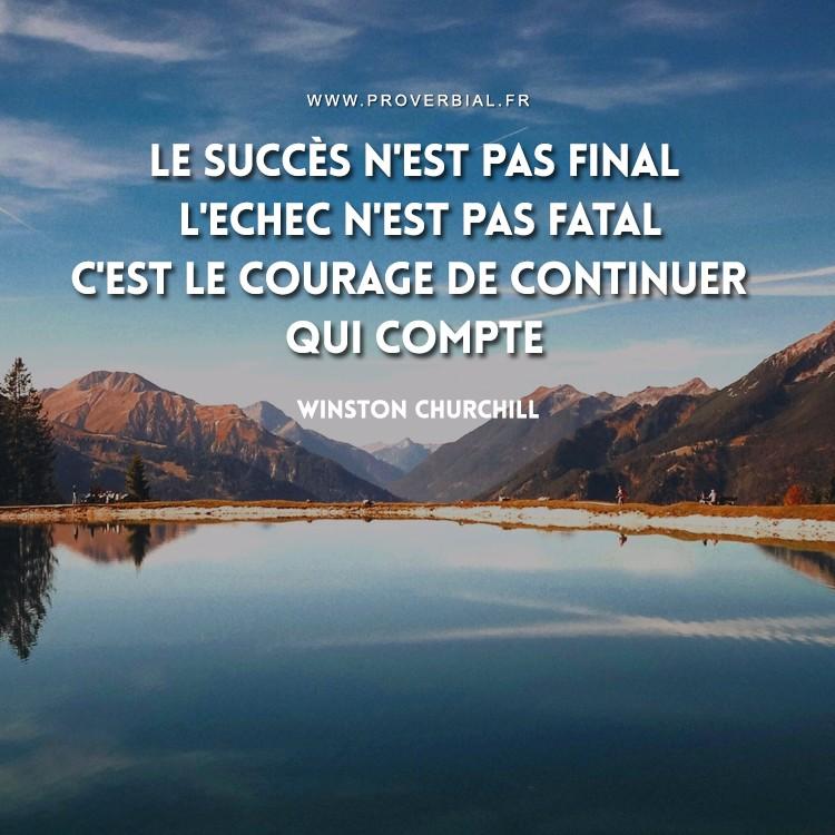 Citation de Winston Churchill sur le succès et l'échec