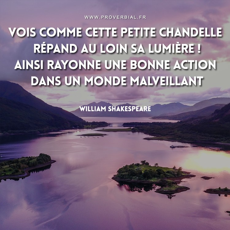 Citation de William Shakespeare sur la bienveillance