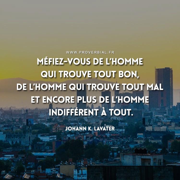 Citation de Johann K. Lavater