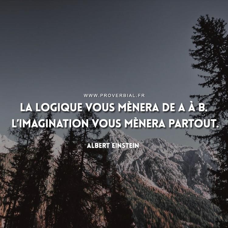 La logique vous mènera de A à B. L'imagination vous mènera partout.