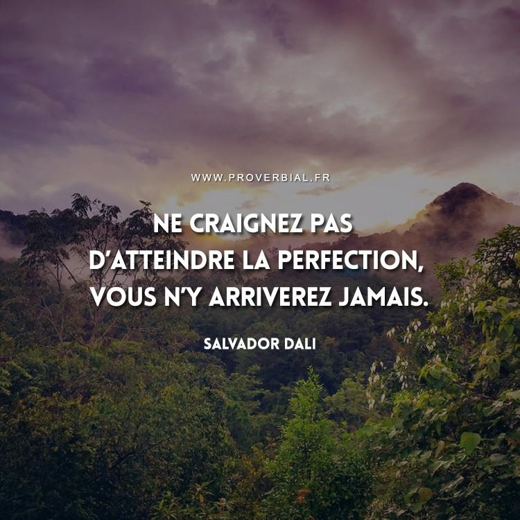Ne craignez pas d'atteindre la perfection, vous n'y arriverez jamais.