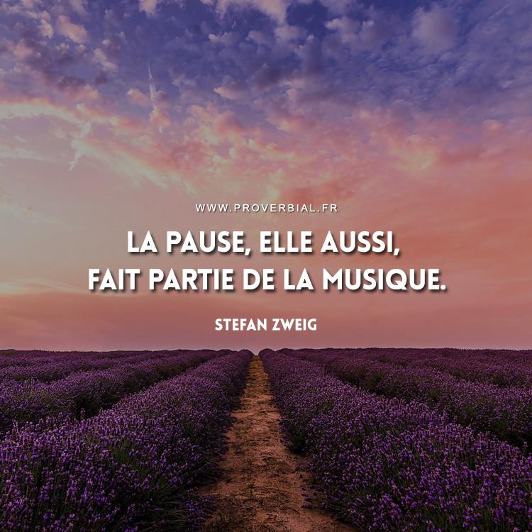 La pause, elle aussi, fait partie de la musique.
