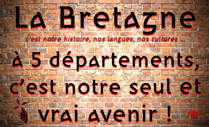 """""""La Bretagne à 5 départements, c'est notre seul et vrai avenir ! """" Misi"""