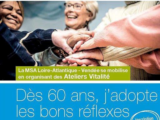 Dès 60 ans, adoptez les bons réflexes avec les Ateliers Vitalité
