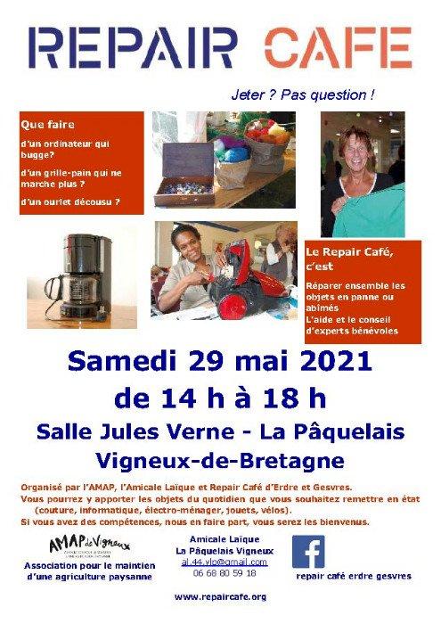 Repair Café, le 29 mai