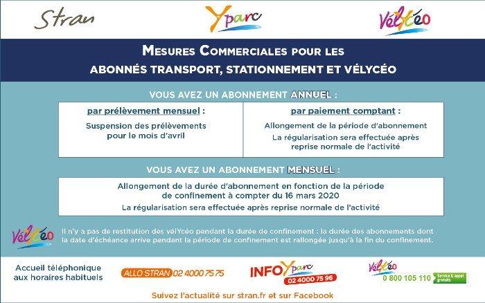 Informations à l'ensemble de nos abonnés (Transport, Stationnement Yparc, vélYcéo) (mise à jour du 30/04/2020).