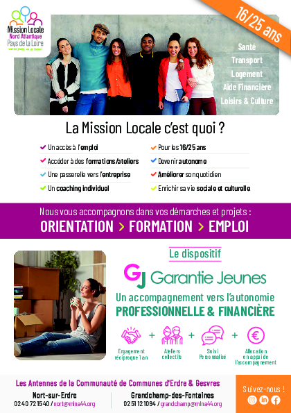 La mission locale accompagne les jeunes de 16 - 25 ans