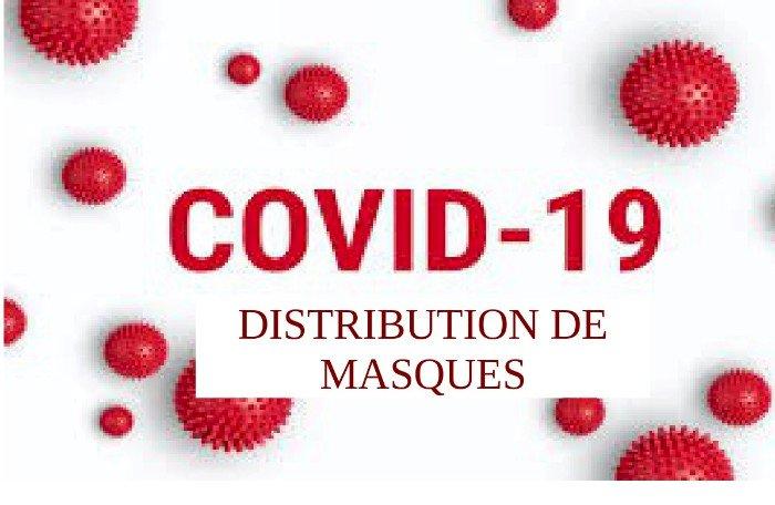 Distribution de masques aux Cassonnais