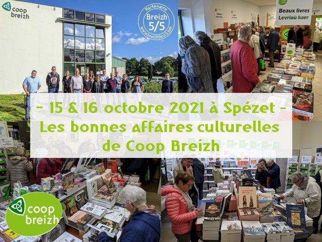 """Les bonnes affaires culturelles de Coop Breizh""  font leur retour les vendredi 15 et samedi 16 octobre 2021"