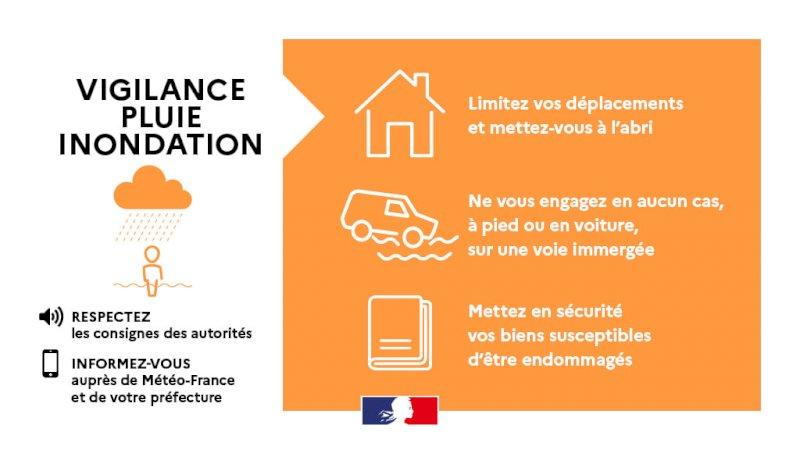 5 départements de la région  des Pays de La Loire, placés en vigilance