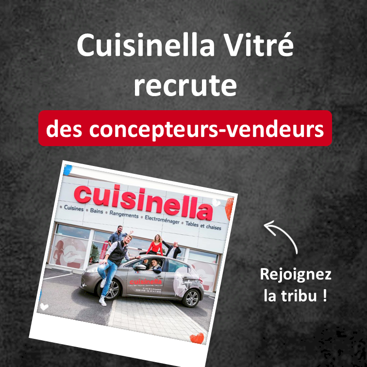 Cuisinella recrute à Vitré !