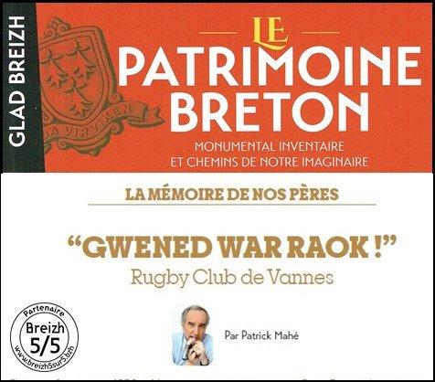 Rugby Club de Vannes « GWENED WAR RAOK ! »,  par Patrick Mahé