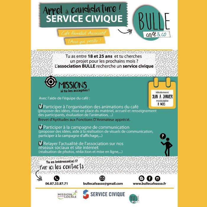 Service Civique : appel à candidature