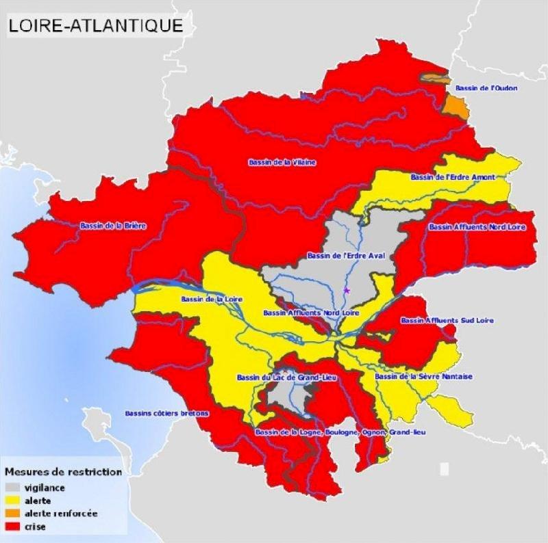 Alerte sécheresse - Restriction d'eau | Ville de Blain