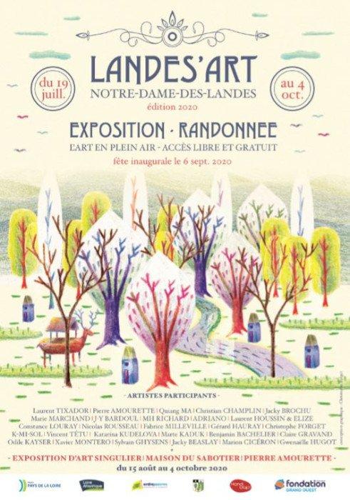 Exposition Randonnée Landes'Art