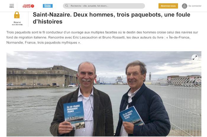 Ile de France-Normandie-France - Trois paquebots mythiques - Beau Petit Pays - Geste Editions - Editeur, diffuseur et distributeur de livres