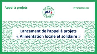 """Lancement de l'appel à projets """"Alimentation locale et solidaire"""""""