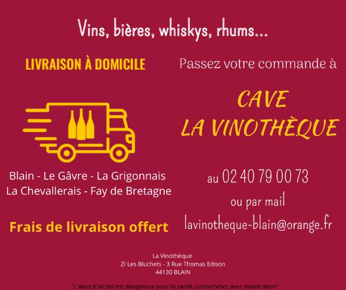 La Vinothèque offre un NOUVEAU SERVICE : LIVRAISON A DOMICILE