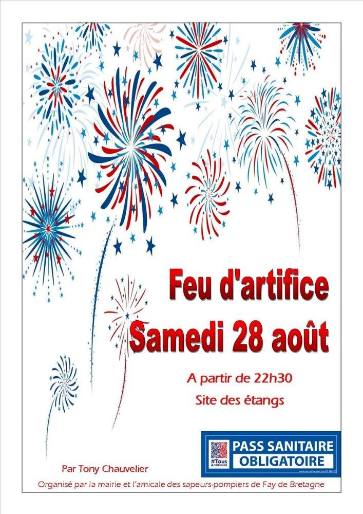 Feu d'Artifice le 28 aout à Fay de Bretagne