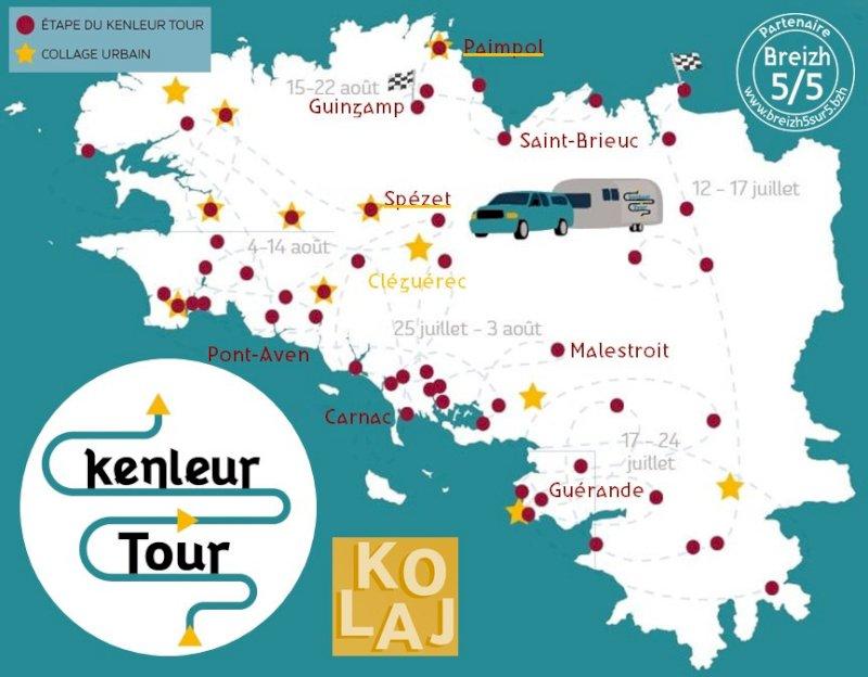 C'est parti pour 53 événements partout en Bretagne : Le Kenleur Tour !!!