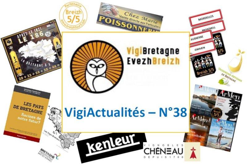 """VigiActualités N°38 : la lettre d'octobre 2021 de """"VigiBretagne / EvezBreizh"""""""