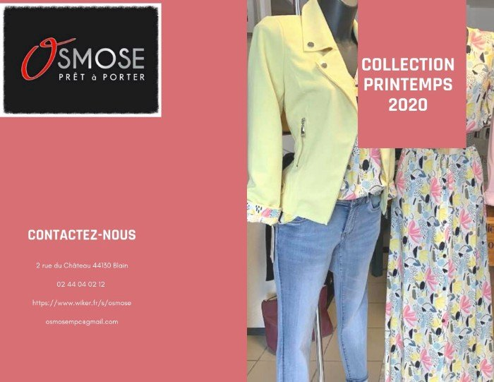 Osmose Blain vous a créé le catalogue Printemps 2020 Femmes
