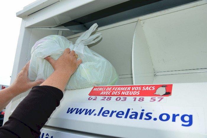 Le Relais : récupération de textile pour le recyclage