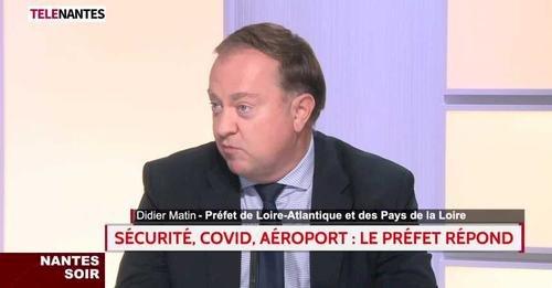 Didier Martin, Préfet de Loire-Atlantique et des Pays de la Loire, invité de Télénantes répond aux questions d'actualités