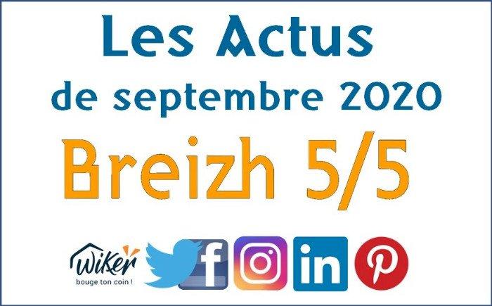 """Les Actus """"Breizh 5/5"""" de Septembre 2020"""