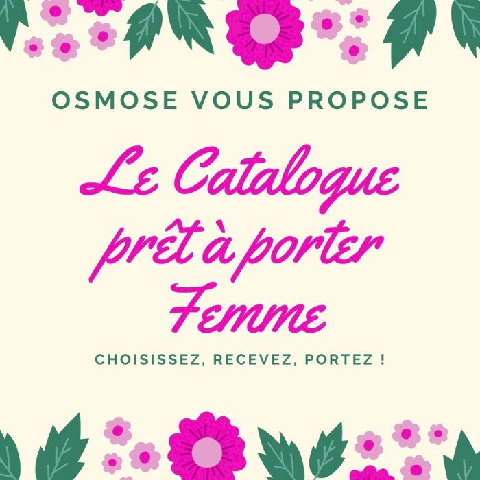 Le catalogue Femme d'Osmose à Blain