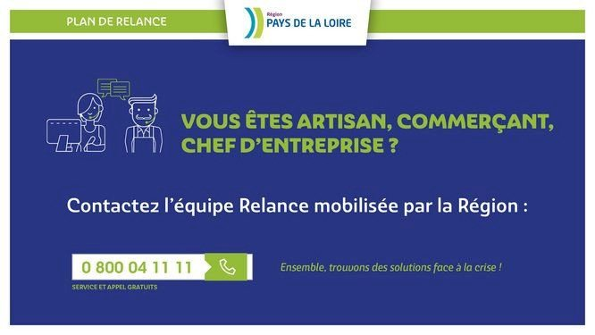La Région se mobilise pour aider les commerçants, artisans, TPE, PME et PMI.