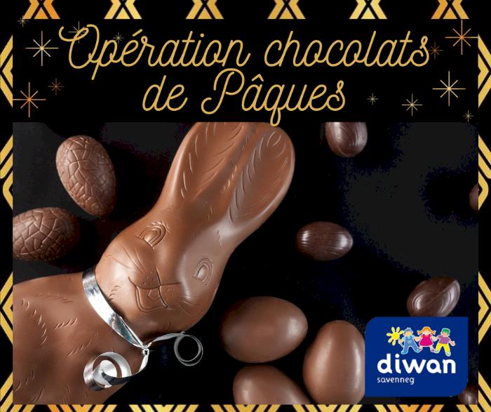 Vente de chocolats de Pâques