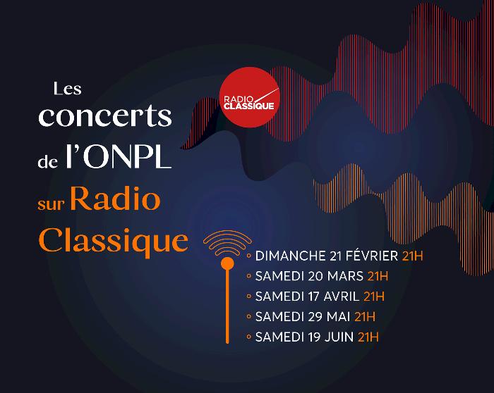 Écoutez le concert Mozart de l'ONPL diffusé sur Radio Classique !