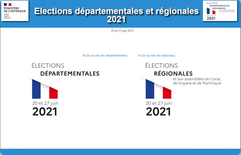 Elections 2021 départementales et régionales, retrouvez les résultats