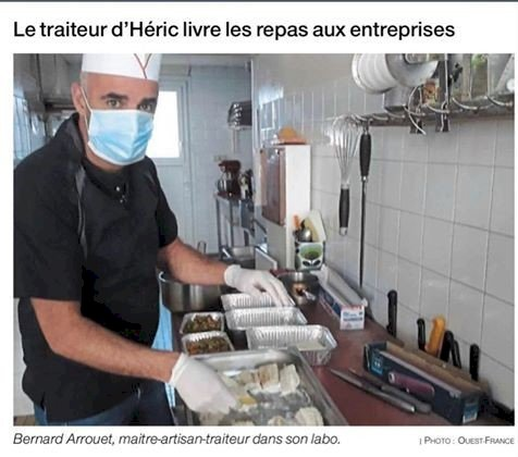 Bernard Arrouet Traiteur à Héric cuisine et livre les repas !