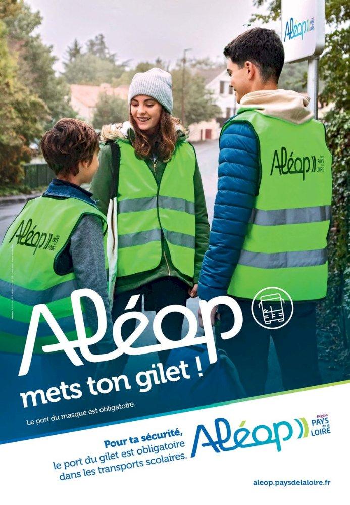 Aléop : Mets ton gilet de haute visibilité pour te déplacer !